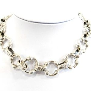 "Sterling Silver Chain-Link Necklace, 14.5"" Length"
